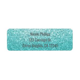 Aqua Sea Blue Glitter Sparkle Party Invitation