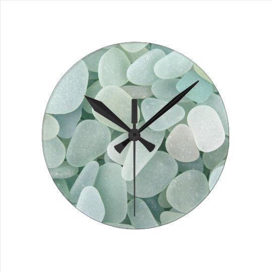 Aqua Sea Glass Clock