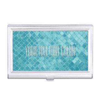 Aqua Sea Glass Personalize Business Card Holder