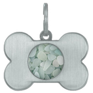Aqua Sea Glass Pet Tag