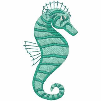 Aqua Seahorse Emrboidered Tees
