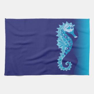Aqua Seahorse Tea Towel