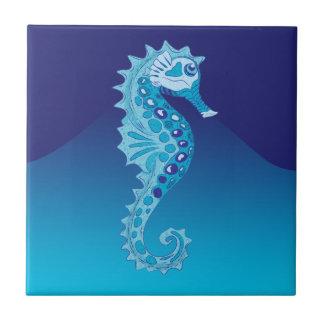Aqua Seahorse Tile