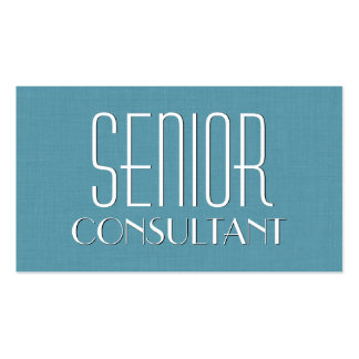 Aqua SENIOR CONSULTANT Simple Style V15 Double-Sided Standard Business Cards (Pack Of 100)