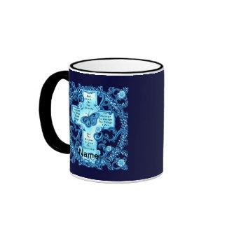 Aqua Serenity Cross coffee mug