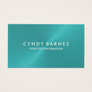 Aqua Sheen Business Card