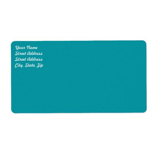 Aqua   Shipping Label