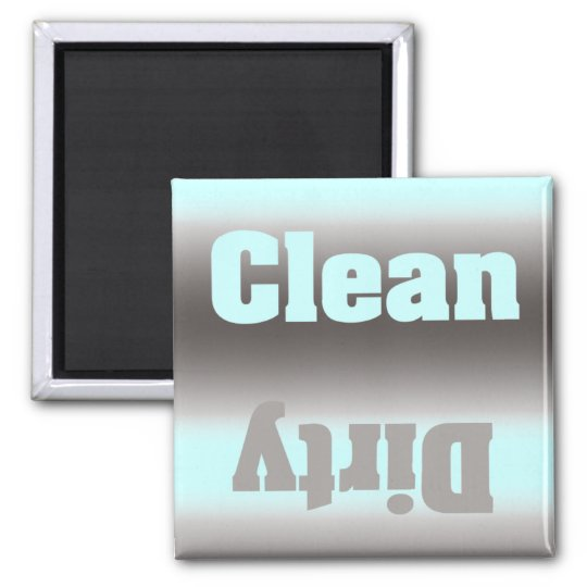 Aqua Silver Dirty Clean Magnet