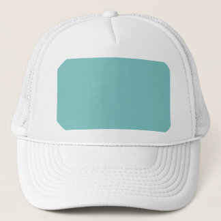 Aqua Sky Background. Elegant Fashion Color Trucker Hat