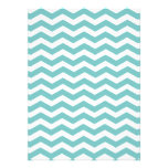 Aqua Sky & White Zigzag Custom 5.5x6.5 Invitations