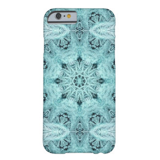 Aqua Snowflake Barely There iPhone 6 Case