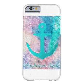 Aqua Sparkle Anchored Faith Phone Case