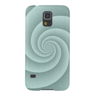 Aqua Spiral in brushed metal texture Galaxy S5 Case