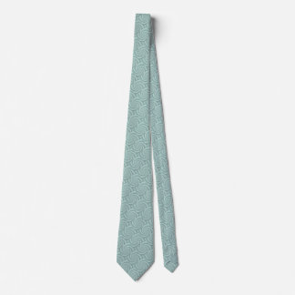 Aqua Spiral in brushed metal texture Tie