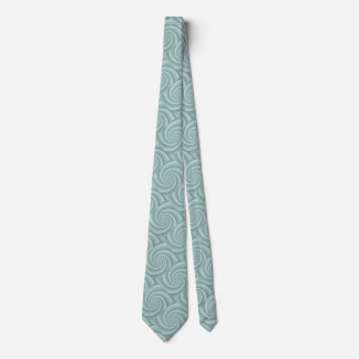 Aqua Spiral in brushed metal texture Tie