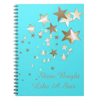 Aqua Star Spiral Notebook