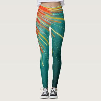 Aqua Starburst - Leggings