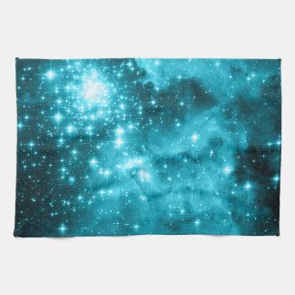 Aqua Stars Tea Towel