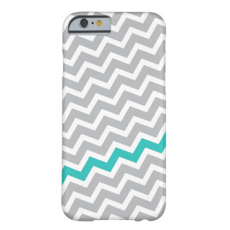 Aqua stripe gray diagonal chevron zigzag pattern barely there iPhone 6 case