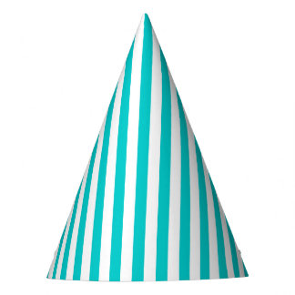 Aqua Stripe Party Hat