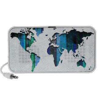 Aqua Stripes Map Notebook Speaker