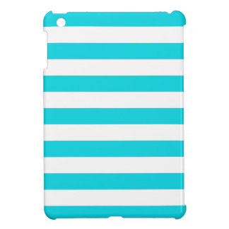 Aqua Stripes Pattern iPad Mini Cases