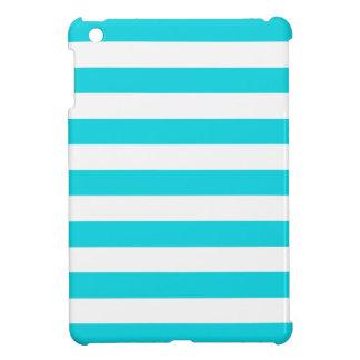 Aqua Stripes Pattern iPad Mini Cover