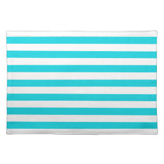 Aqua Stripes Pattern Placemat