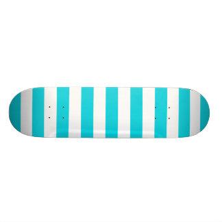 Aqua Stripes Pattern Skate Board Decks