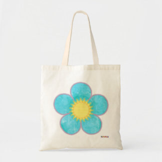 Aqua Sunshine Flower Bag