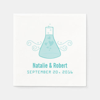 Aqua Sweet Chemistry Paper Napkins
