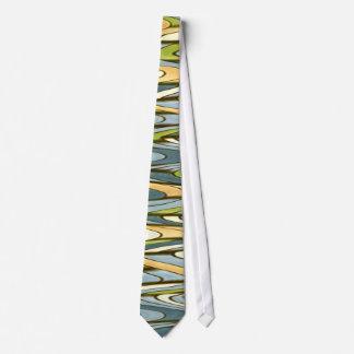 Aqua Swirl Design Necktie