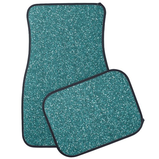 Aqua Teal Blue Green Sparkle Glitter Custom Floor