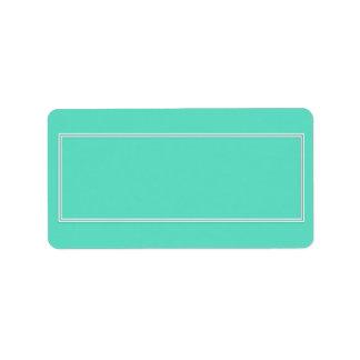 Aqua Template Address Label