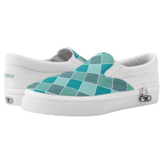 Aqua Tiles custom monogram shoes