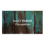 Aqua Tinted Distressed Rustic Wood Professional Pack Of Standard Business Cards