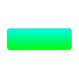 Aqua to Green Avery Label Return Address Label