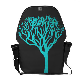 Aqua Tree Silhouette Commuter Bag