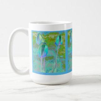 Aqua Tulip Impressionist Mug