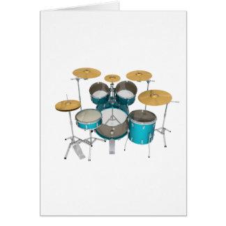 Aqua / Turquoise Drum Kit: Card