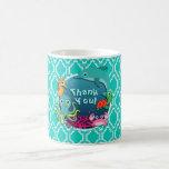 Aqua Turquoise Ocean Life Baby Shower Basic White Mug