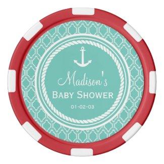 Nautical Baby Shower Poker Chips