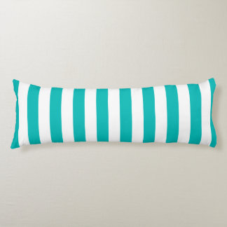 Aqua Vertical Stripes Body Cushion