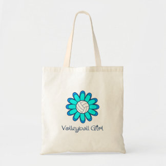 Aqua Volleyball Girl Tote Bag
