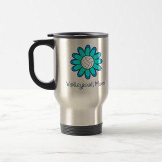 Aqua Volleyball Mom Travel Mug