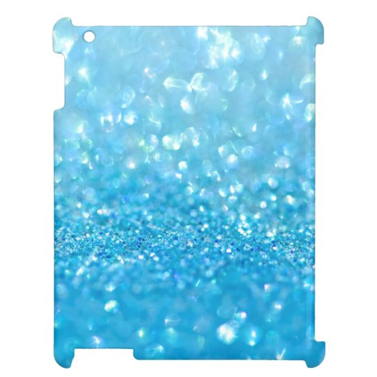 Aqua Water Baby Blue Glitter iPad Cases