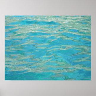 Aqua Water Poster