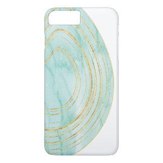 Aqua Watercolor Agate with Gold | iphone case