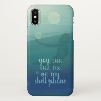 Aqua Watercolor Mermaid Quote iPhone X Phone Case