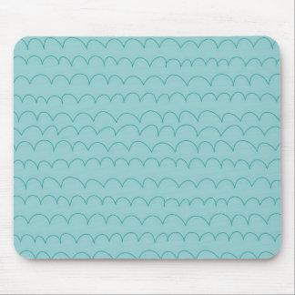 Aqua Waves Mouse Pad